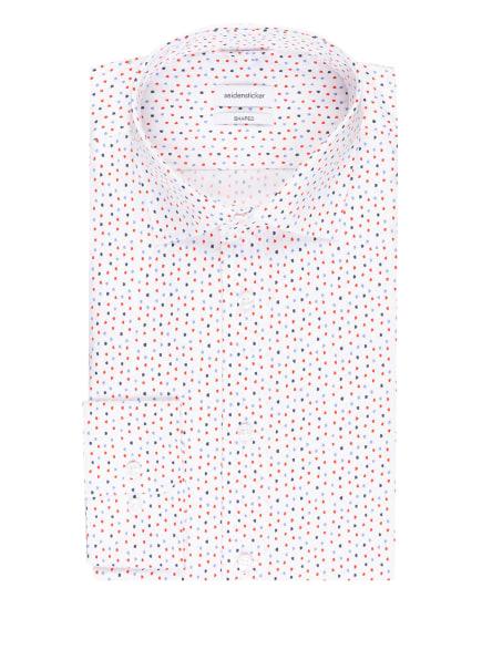 seidensticker Hemd Shaped Fit, Farbe: WEISS/ HELLBLAU/ ROT (Bild 1)