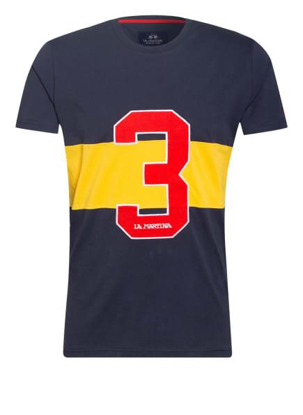 LA MARTINA T-Shirt, Farbe: DUNKELBLAU/ GELB/ ROT (Bild 1)