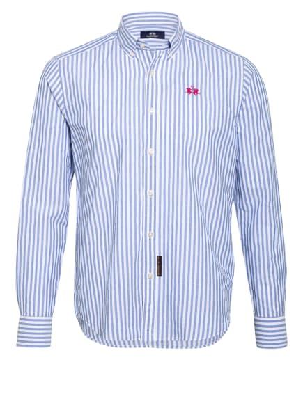 LA MARTINA Hemd Regular Fit mit Leinen, Farbe: WEISS/ HELLBLAU (Bild 1)