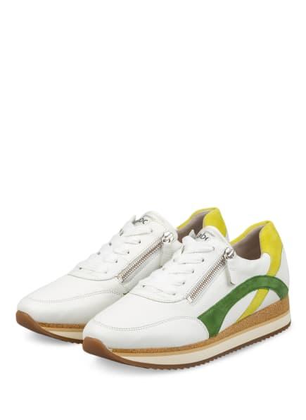 Gabor Plateau-Sneaker, Farbe: WEISS/ GRÜN/ HELLGRÜN (Bild 1)