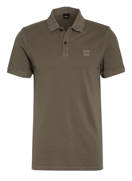 BOSS Piqué-Poloshirt PRIME Slim Fit, Farbe: KHAKI (Bild 1)