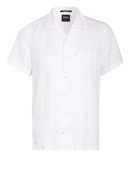 BOSS Resorthemd RHYTHM Regular Fit aus Leinen, Farbe: WEISS (Bild 1)