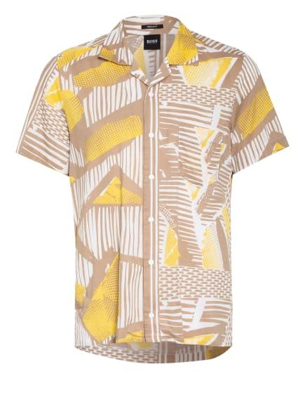 BOSS Resorthemd RHYTHM Regular Fit, Farbe: WEISS/ GELB/ HELLBRAUN (Bild 1)