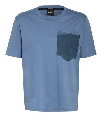 BOSS T-Shirt TPOCKET, Farbe: BLAUGRAU (Bild 1)