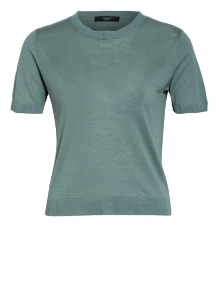 WEEKEND MaxMara Strickshirt GARIBO mit Seide und Leinen, Farbe: HELLGRÜN (Bild 1)