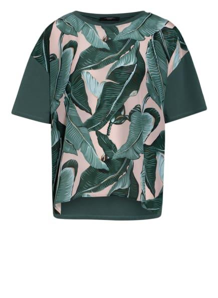 WEEKEND MaxMara Blusenshirt im Materialmix , Farbe: KHAKI/ HELLGRÜN/ NUDE (Bild 1)