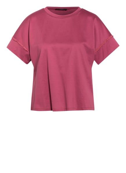 WEEKEND MaxMara Blusenshirt PALMA mit Spitzenbesatz, Farbe: DUNKELROT (Bild 1)