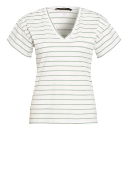 WEEKEND MaxMara T-Shirt TASTO, Farbe: WEISS/ HELLGRÜN (Bild 1)