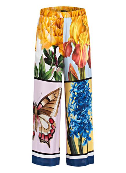 WEEKEND MaxMara Culotte ALOA aus Seide, Farbe: DUNKELGELB/ GELB/ BLAU (Bild 1)