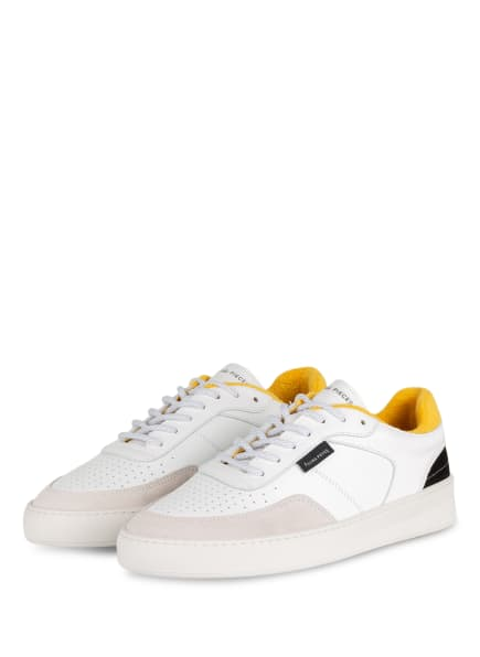 FILLING PIECES Sneaker SPATE PLAIN, Farbe: WEISS/ DUNKELGELB/ CREME (Bild 1)