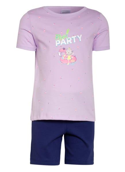 SCHIESSER Shorty-Schlafanzug CAT ZOE, Farbe: BLAU/ HELLLILA (Bild 1)