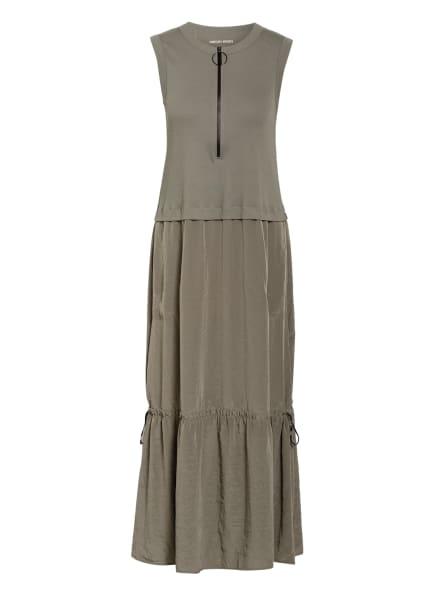 MARC CAIN Kleid im Materialmix, Farbe: OLIV (Bild 1)