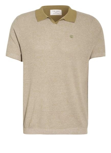 CG CLUB of GENTS Jersey-Poloshirt Modern Fit, Farbe: CREME/ OLIV (Bild 1)
