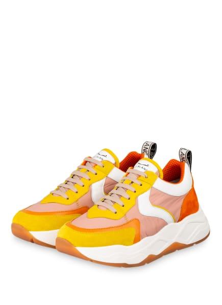 VOILE BLANCHE Sneaker MELODY , Farbe: GELB/ HELLORANGE/ WEISS (Bild 1)