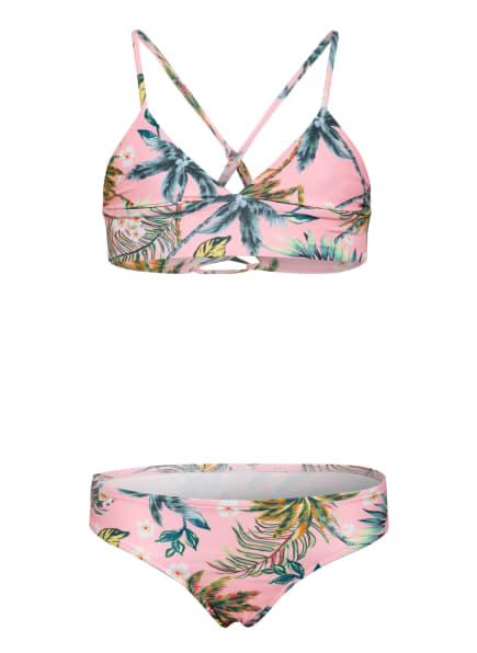 SEAFOLLY Bustier-Bikini TROPI FUSION, Farbe: ROSA/ GRÜN/ ORANGE (Bild 1)