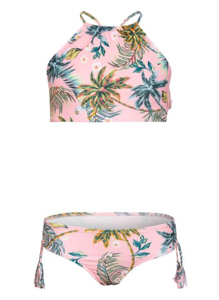 SEAFOLLY Bustier-Bikini TROPI FUSION, Farbe: ROSA/ GRÜN/ HELLBLAU (Bild 1)