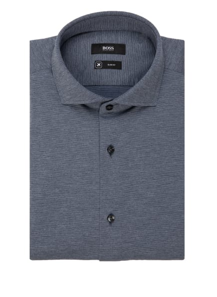 BOSS Jersey-Hemd JASON Slim Fit, Farbe: SCHWARZ/ WEISS (Bild 1)
