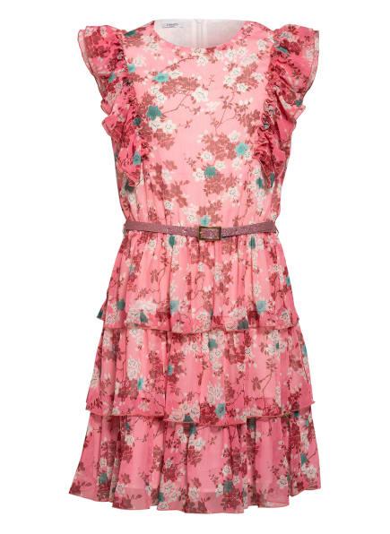 LIU JO Kleid mit Volantbesatz, Farbe: ROSA/ DUNKELROT/ WEISS (Bild 1)