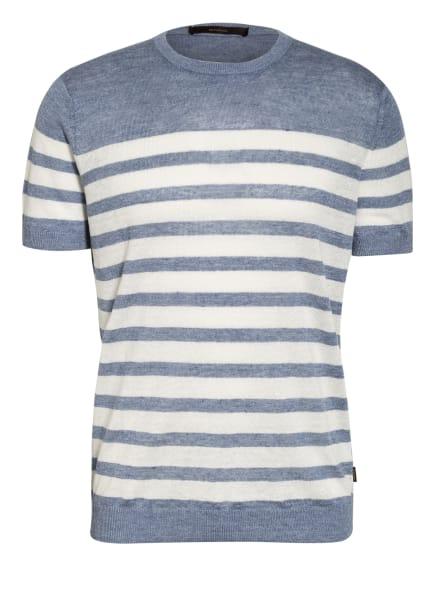 windsor. T-Shirt aus Leinen, Farbe: WEISS/ HELLBLAU (Bild 1)