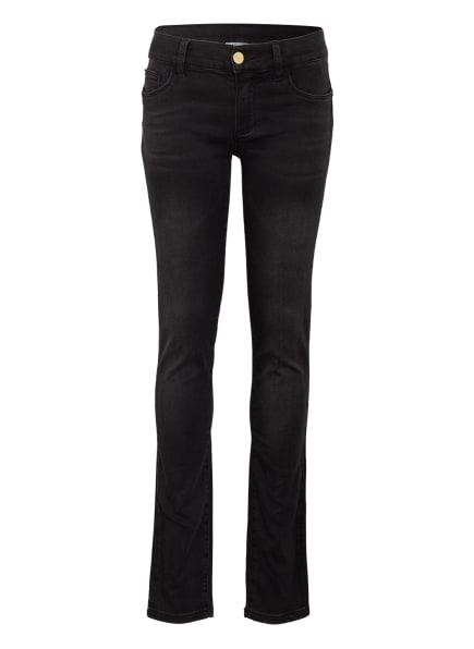 LIU JO Jeans Skinny Fit mit Schmucksteinbesatz, Farbe: SCHWARZ (Bild 1)