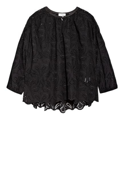 ottod'ame Blusenshirt aus Spitze, Farbe: SCHWARZ (Bild 1)