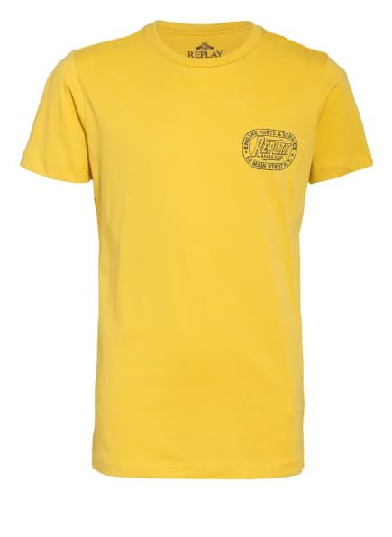 REPLAY T-Shirt, Farbe: DUNKELGELB (Bild 1)