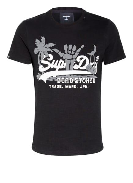 Superdry T-Shirt, Farbe: SCHWARZ/ WEISS/ DUNKELGRAU (Bild 1)