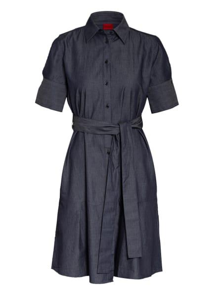 HUGO Hemdblusenkleid ELITH , Farbe: DUNKELBLAU/ CREME (Bild 1)