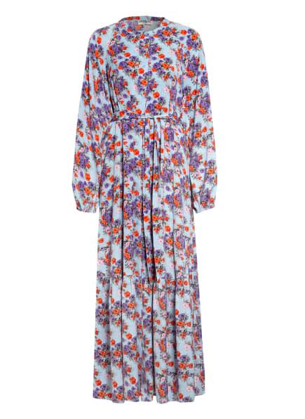 ESSENTIEL ANTWERP Kleid ZUTURE, Farbe: HELLBLAU/ DUNKELLILA/ ROT (Bild 1)