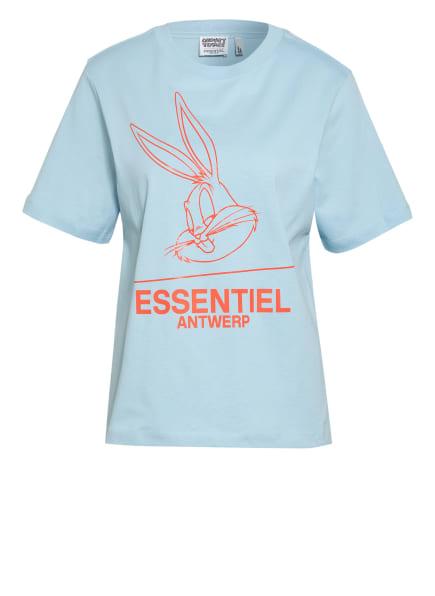ESSENTIEL ANTWERP T-Shirt ZINKER, Farbe: HELLBLAU/ ORANGE (Bild 1)