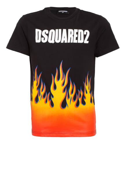 DSQUARED2 T-Shirt, Farbe: SCHWARZ/ ORANGE/ GELB (Bild 1)