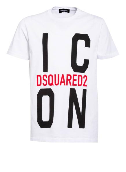 DSQUARED2 T-Shirt, Farbe: WEISS/ SCHWARZ/ ROT (Bild 1)
