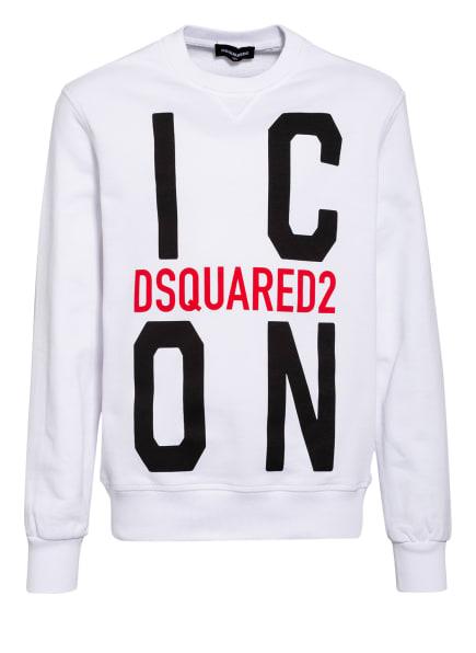 DSQUARED2 Sweatshirt, Farbe: WEISS/ SCHWARZ/ ROT (Bild 1)