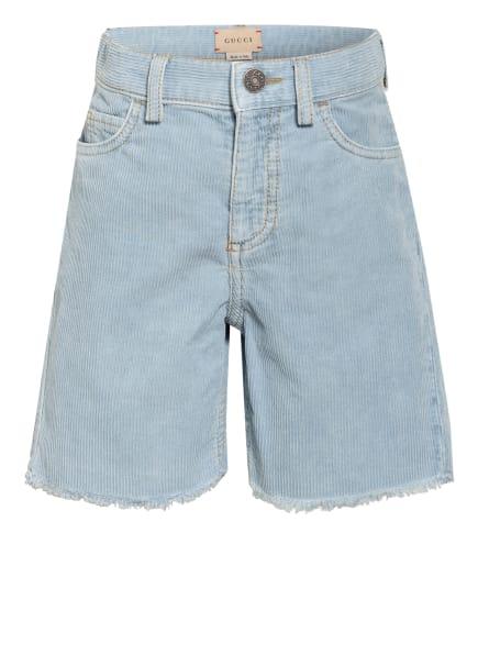 GUCCI Cord-Shorts , Farbe: HELLBLAU (Bild 1)