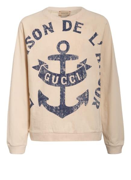 GUCCI Sweatshirt, Farbe: CREME/ BLAU (Bild 1)
