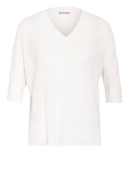 HEMISPHERE Strickshirt aus Leinen, Farbe: WEISS (Bild 1)