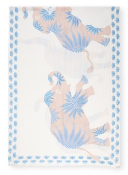 HEMISPHERE Cashmere-Schal DANCER mit Seide, Farbe: WEISS/ HELLBLAU/ HELLBRAUN (Bild 1)