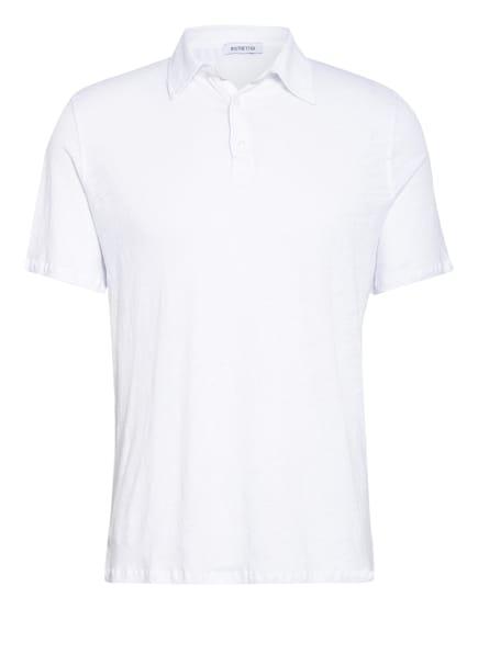 DISTRETTO 12 Jersey-Poloshirt aus Leinen , Farbe: WEISS (Bild 1)