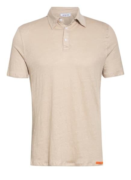 DISTRETTO 12 Jersey-Poloshirt aus Leinen , Farbe: BEIGE (Bild 1)