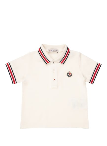MONCLER enfant Piqué-Poloshirt, Farbe: WEISS/ DUNKELBLAU/ ROT (Bild 1)