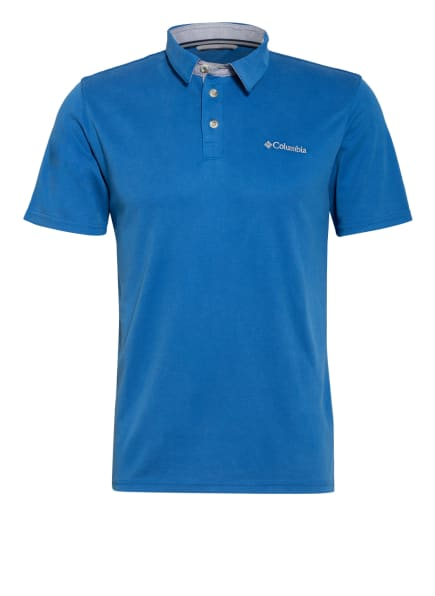 Columbia Jersey-Poloshirt NELSON POINT™ Activ Fit, Farbe: BLAU (Bild 1)