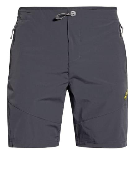 me°ru' Outdoor-Shorts KUMEU, Farbe: DUNKELGRAU/ NEONGELB (Bild 1)