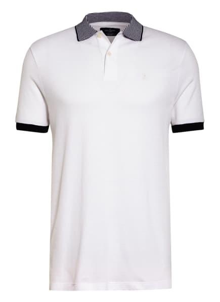 HACKETT LONDON Strick-Poloshirt Classic Fit, Farbe: WEISS/ DUNKELBLAU (Bild 1)