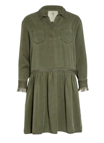 CATNOIR Kleid mit Stickereien , Farbe: OLIV (Bild 1)