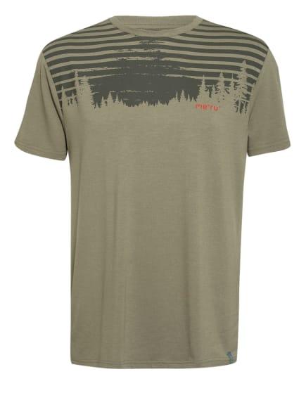 me°ru' T-Shirt MOSS, Farbe: OLIV/ KHAKI/ ROT (Bild 1)