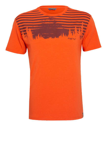 me°ru' T-Shirt MOSS, Farbe: ORANGE/ DUNKELBRAUN (Bild 1)