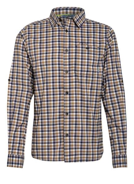 me°ru' Outdoor-Hemd PEANIA, Farbe: BEIGE/ DUNKELBLAU/ WEISS (Bild 1)