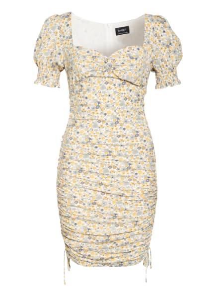BARDOT Kleid CINDY, Farbe: WEISS/ DUNKELGELB/ GRAU (Bild 1)