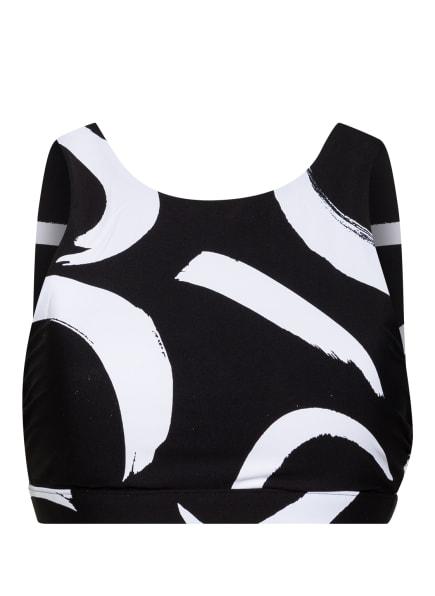 SEAFOLLY Bustier-Bikini-Top NEW WAVE , Farbe: WEISS/ SCHWARZ (Bild 1)