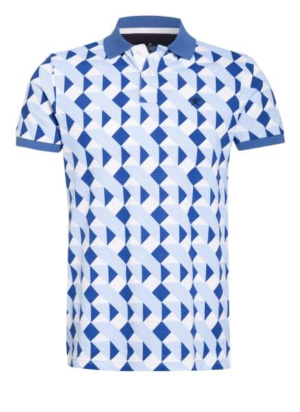 HACKETT LONDON Piqué-Poloshirt Classic Fit , Farbe: SCHWARZ/ BLAU/ HELLBLAU (Bild 1)